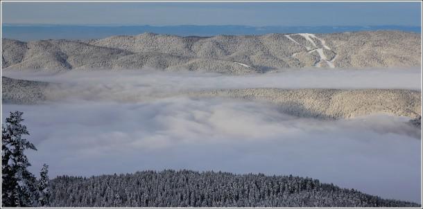 Pistes de ski de Méaudre depuis Lans en Vercors - 12 janvier 2013