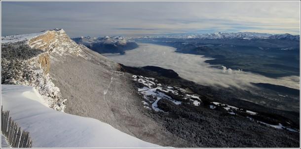 Grenoble depuis Lans en Vercors - 12 janvier 2013