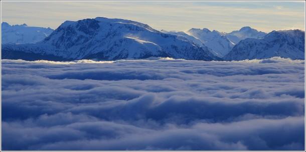 Mer de nuages - Taillefer depuis Lans en Vercors - 5 janvier 2013