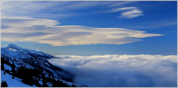 Lenticulaires, mer de nuages et Vercors - 5 janvier 2013
