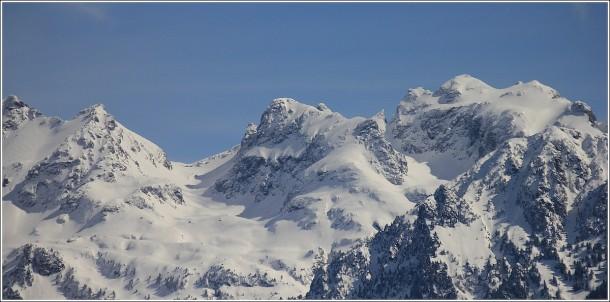 Massif de Belledonne depuis Grenoble - 19 mars 2013
