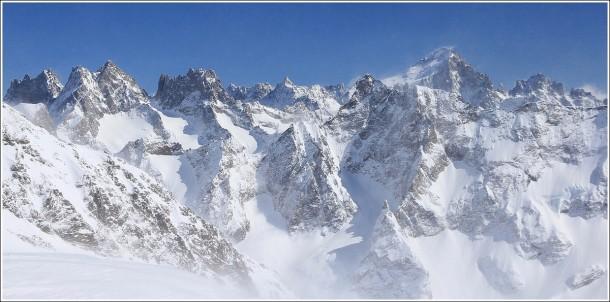 Barre des Ecrins depuis les 2 Alpes - 31 mars 2013