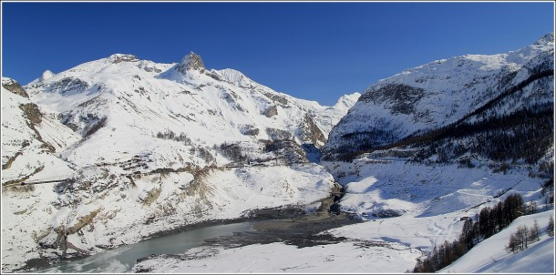 Barrage du Chevril - Route de Tignes - 4 mars 2013