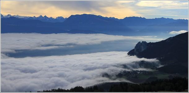 Belledonne et Vercors - Mer de nuages - 1er octobre 2013