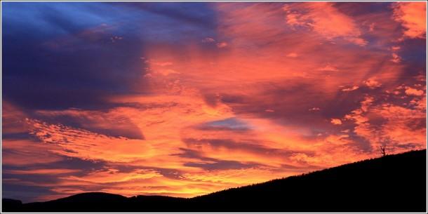Coucher de soleil à Lans en Vercors - 27 octobre 2013
