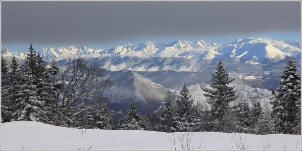 Vercors - Belledonne depuis Autrans - 5 janvier 2014
