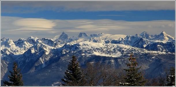 Chamrousse, 2 Alpes, la Meije, depuis Autrans (Vercors) - 25 janvier 2014