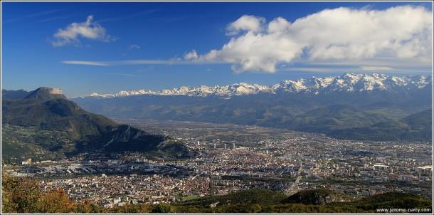 Grenoble depuis le Vercors - 23 octobre 2014