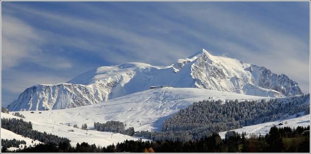 Le Mont Blanc depuis Combloux - 19 novembre 2014