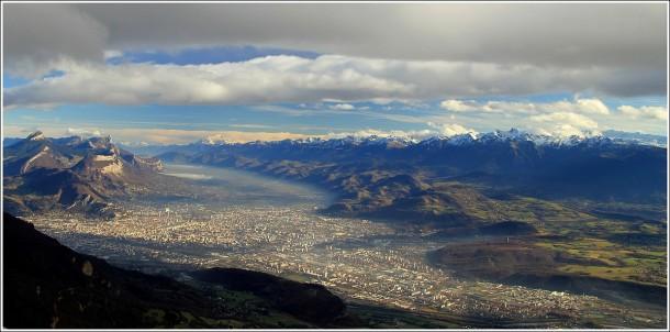 Grenoble depuis Lans en Vercors - 27 novembre 2014