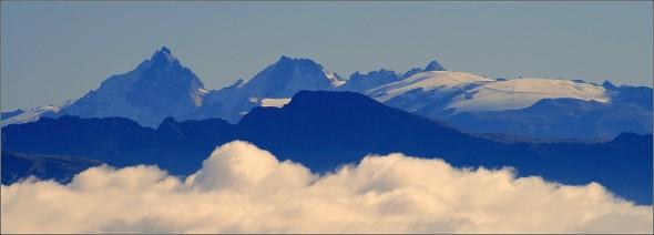 La Meije et le glacier des 2 Alpes depuis le Vercors - 18 octobre 2009
