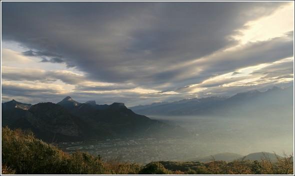 Lumière sur Grenoble depuis le Vercors - 21 octobre 2009